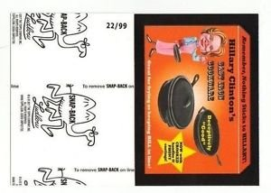 """2017 Wacky Packages 50th Anniversary BLACK LUDLOW """"CLINTON'S COOKWARE"""" 22/99"""