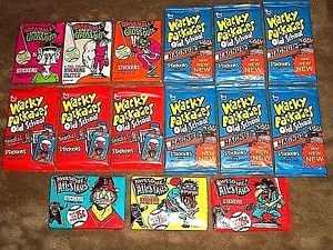 "LOT OF WACKY PACKAGES OLD SCHOOL & BASEBALL GROSSOUTS & AWESOME ALL-STAR ""PACKS"""