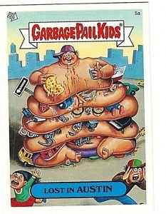 """2004 GARBAGE PAIL KIDS ALL NEW SERIES 2 {ANS2} """"LOST IN AUSTIN"""" #5a STICKER CARD"""