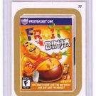 "2015 WACKY PACKAGES SERIES 1 GOLD BORDER ""FRUIT BINJA"" #77 STICKER CARD"