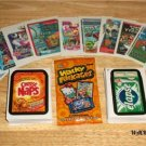"2015 WACKY PACKAGES SERIES 1 COMBO ""COMPLETE 110 BASIC CARDS & TATTOO SET + MORE"