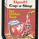 1974 WACKY PACKAGES ORIGINAL 8TH SERIES *LIPOFF CUP-A-SLOP* STICKER