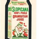 "1974 WACKY PACKAGES WONDER BREAD 2nd SERIES ""SLOPICANA"" STICKER CARD"