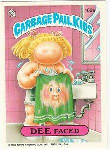"1986 GARBAGE PAIL KIDS ORIGINAL 5th SERIES ""DEE FACED"" #169a  NM"