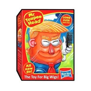 "2017 WACKY PACKAGES/GARBAGE PAIL KIDS TRUMPOCRACY 1ST 100 DAYS ""MR.TOUPEE HEAD"""