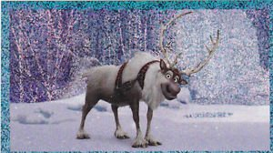 PANINI DISNEY FROZEN STICKER **SVEN** #87 SHINY!  HARD TO FIND!