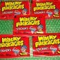 """WACKY PACKAGES 1986 ALBUM SERIES LOT OF FIVE BRAND """"NEW"""" SEALED PACKS"""