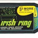 "1986 WACKY PACKAGES ALBUM SERIES STICKER ""IRISH RING"" #65 ONLY 99 CENTS"