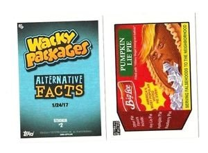 "2017 WACKY PACKAGES ALTERNATIVE FACTS ""BIG LEE PUMPKIN PIE LIE"" #2 IN STOCK"