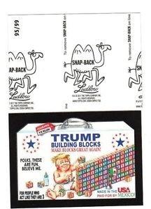 "2017 Wacky Packages 50th Anniversary BLACK LUDLOW ""TRUMP BUILDING BLOCKS"" 95/99"