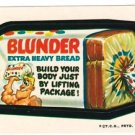 "1974 WACKY PACKAGES WONDER BREAD 2nd SERIES ""BLUNDER BREAD"" STICKER CARD"
