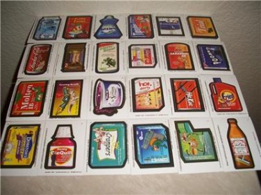 2003 SILLY SUPERMARKET 2ND SERIES COMPLETE STICKER SET LIKE WACKY PACKAGES.