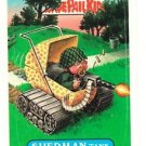 "1987 GARBAGE PAIL KIDS ORIGINAL 10TH SERIES ""SHERMAN TANK"" #416b STICKER CARD"