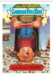 """2004 GARBAGE PAIL KIDS ALL NEW SERIES 3 {ANS3} """"HAMMERED HENRY"""" #19b STICKER"""