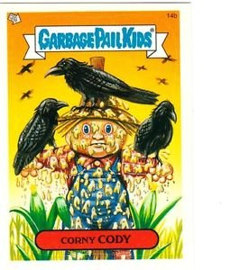 "2004 GARBAGE PAIL KIDS ALL NEW SERIES 2 {ANS2} ""CORNY CODY"" #14b STICKER CARD"