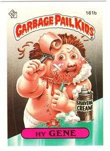 """1986 GARBAGE PAIL KIDS ORIGINAL 4TH SERIES """"HY GENE"""" #161b STICKER CARD"""