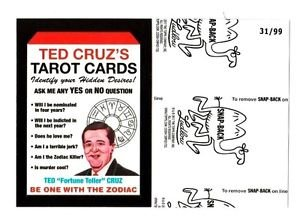 """2017 Wacky Packages 50th Anniversary BLACK LUDLOW """"TED CRUZ'S TAROT CARDS"""" 31/99"""