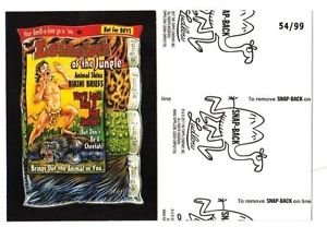 """2017 Wacky Packages 50th Anniversary BLACK LUDLOW """"LOINCLOTH OF JUNGLE"""" 54/99"""