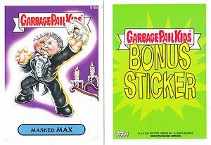 "2014 GARBAGE PAIL KIDS 2ND SERIES BONUS STICKER  ""MAXED MAX"" B16b"