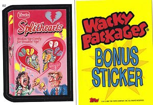 2007 WACKY PACKAGES ALL NEW SERIES 6 (ANS6) **SPLITHEARTS** BONUS STICKER  B2