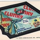 "1974 WACKY PACKAGES ORIGINAL 10TH SERIES ""CLUNKY"" STICKER CARD"