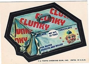 """1974 WACKY PACKAGES ORIGINAL 10TH SERIES """"CLUNKY"""" STICKER CARD"""