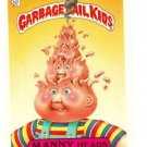 "1987 GARBAGE PAIL KIDS ORIGINAL 7TH SERIES ""MANNY HEADS"" #284a STICKER CARD"