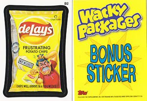2011 WACKY PACKAGES ALL NEW SERIES 8 (ANS8) BONUS STICKER **DeLays** B2