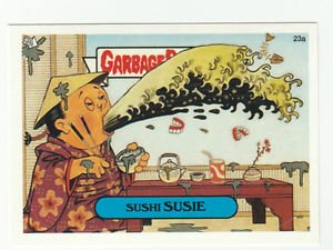 """2003 GARBAGE PAIL KIDS ALL NEW SERIES 1 {ANS1} """"SUSHI SUSIE"""" #23a STICKER CARD"""
