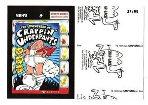 """2017 Wacky Packages 50th Anniversary BLACK LUDLOW """"CRAPPIN'UNDERPANTS"""" 27/99"""