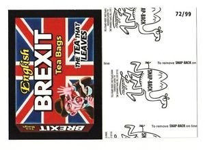 "2017 Wacky Packages 50th Anniversary BLACK LUDLOW ""BREXIT TEA BAGS"" 72/99"