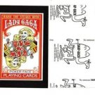 "2017 Wacky Packages 50th Anniversary BLACK LUDLOW ""LADY GAGA PLAYING CARDS""69/99"