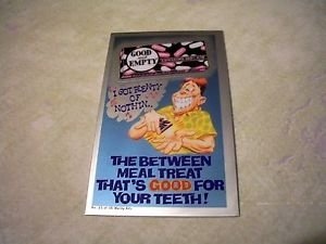 """2014 WACKY PACKAGES CHROME SERIES 1 """"GOOD AND EMPTY"""" WACKY ADS #25 CARD"""