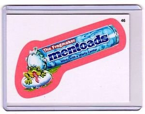"""2011 WACKY PACKAGES ALL NEW SERIES 8 {ANS8} PINK BORDER CARD """"MENTOADS"""" #46"""