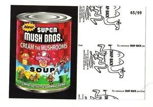 """2017 Wacky Packages 50th Anniversary BLACK LUDLOW """"SUPER MUSH BROS."""" 65/99"""
