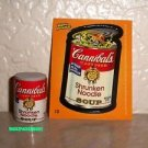 "WACKY PACKAGES ERASER SERIES 2 ""CANNIBAL'S SOUP"" ERASER & MATCHING STICKER #10"