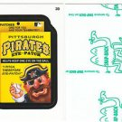 "2016 WACKY PACKAGES BASEBALL SERIES1 GREEN LUDLOW ""PIRATES EYE-PATCH"" #39"