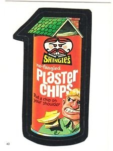 """1986 WACKY PACKAGES ALBUM SERIES STICKER """"PLASTER CHIPS"""" #43 ONLY 99 CENTS"""