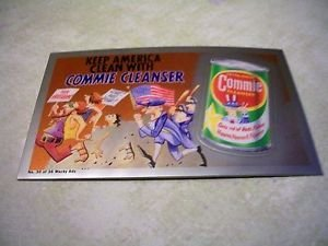 2014 WACKY PACKAGES CHROME SERIES 1 *COMMIE CLEANSER* WACKY ADS #30 CARD