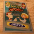 "2014 WACKY PACKAGES CHROME SERIES 1 ""NERTZ"" WACKY ADS #19 CARD"