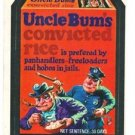 "1974 WACKY PACKAGES ORIGINAL 10TH SERIES ""UNCLE BUM'S RICE"" STICKER CARD"