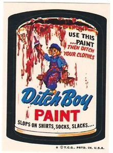 "1974 WACKY PACKAGES WONDER BREAD 2nd SERIES ""DITCH BOY PAINT"" STICKER NM"