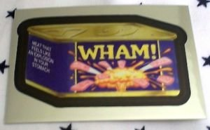 """2014 WACKY PACKAGES CHROME SERIES 1 """"WHAM!"""" #18 CUTTING ROOM FLOOR INSERT"""