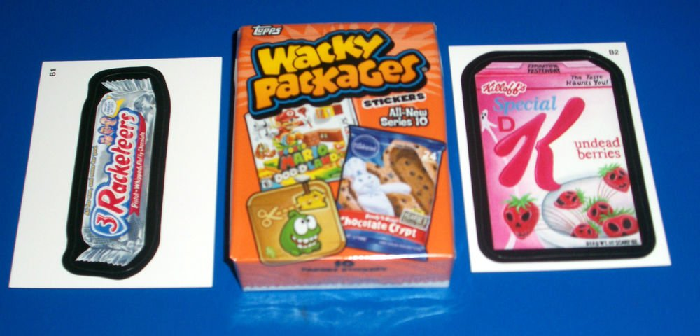 2013 WACKY PACKAGES ANS10 COMPLETE 55 CARD SET + SET OF BONUS STICKERS & MORE!!
