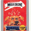 "2015 WACKY PACKAGES SERIES 1 SILVER BORDER ""MILK-DRONE"" #17 STICKER CARD"
