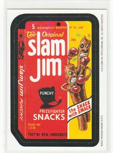 2006 WACKY PACKAGES ALL NEW SERIES 3 (ANS3) **SLAM JIM** #8  MAGNET!!