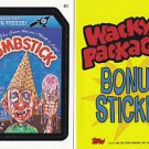 "2007 WACKY PACKAGES ALL SERIES 6 {ANS6} ""DUMBSTICK"" BONUS STICKER CARD  B1"