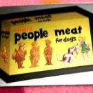 "2014 WACKY PACKAGES CHROME SERIES 1 ""PEOPLE MEAT"" #10 CUTTING ROOM FLOOR INSERT"
