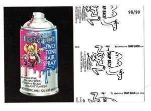 """2017 Wacky Packages 50th Anniversary BLACK LUDLOW """"HARLEQUIN HAIR SPRAY"""" 98/99"""