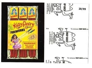 "2017 Wacky Packages 50th Anniversary BLACK LUDLOW ""KATY PERRY FIREWORKS"" 20/99"